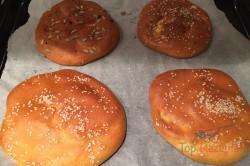 FITNESS Rezept für kleine mehlfreie Fladenbrote aus 3 Zutaten, schritt 4