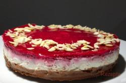 Zubereitung des Rezepts Ohne Zucker, ohne Mehl und vor allem in nur 10 Minuten zubereitet: Cheesecake mit..., schritt 2